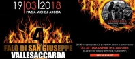 Vallesaccarda (Avellino): il falo' di San Giuseppe